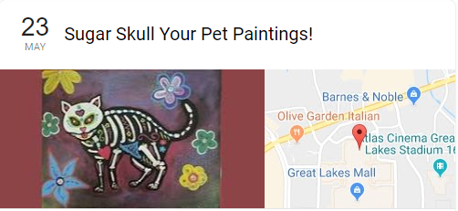 Event: Sugar Skull Your Pet Paintings